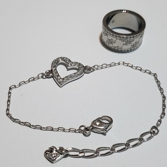Swarovski bracelet & ring